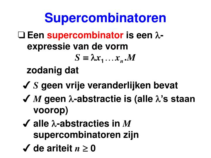Supercombinatoren