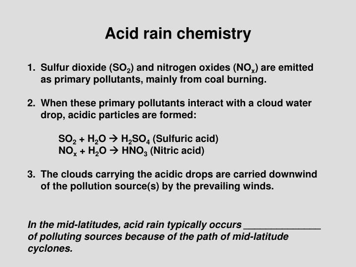 Acid rain chemistry