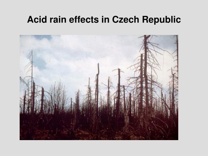 Acid rain effects in Czech Republic