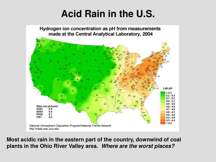 Acid Rain in the U.S.