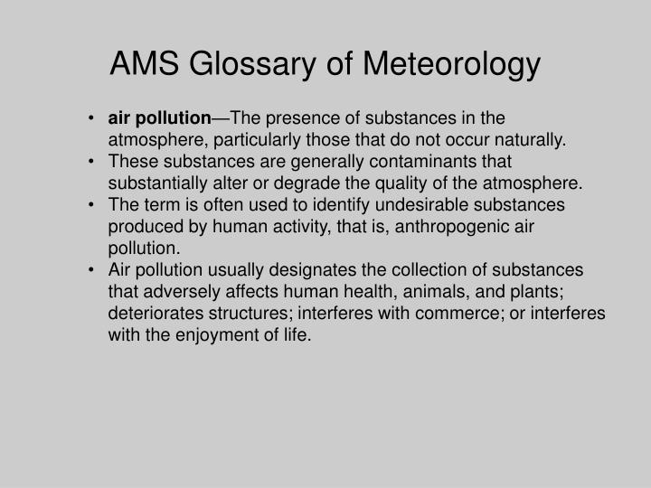 Ams glossary of meteorology