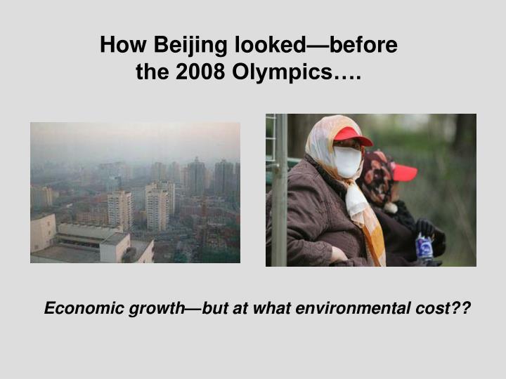 How Beijing looked—before