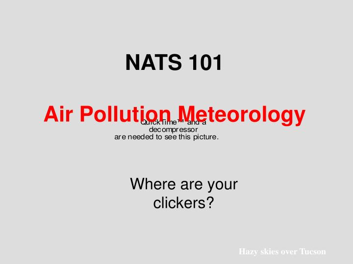 Nats 101 air pollution meteorology