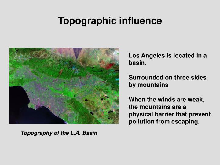 Topographic influence