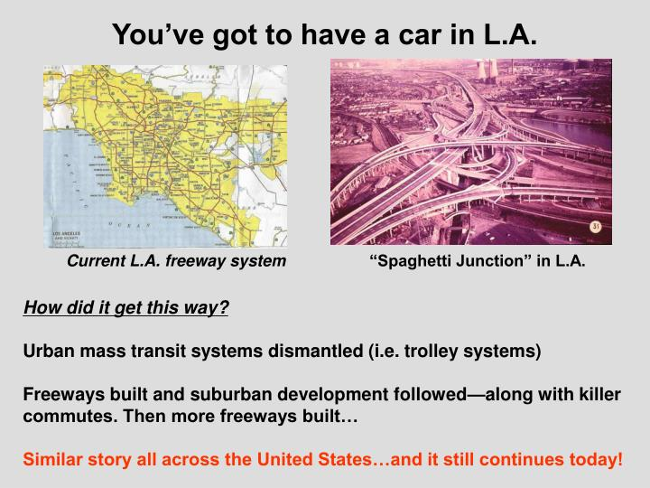 You've got to have a car in L.A.