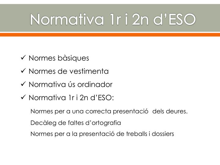 Normativa 1r i 2n