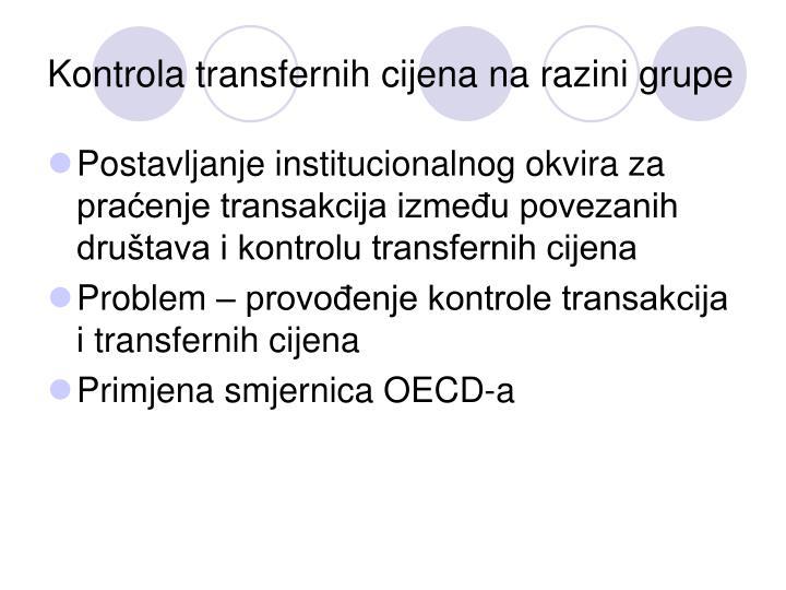 Kontrola transfernih cijena na razini grupe
