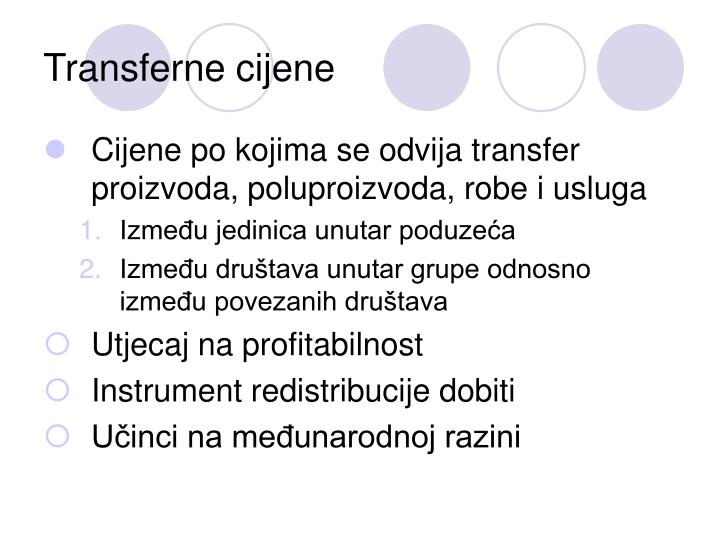 Transferne cijene