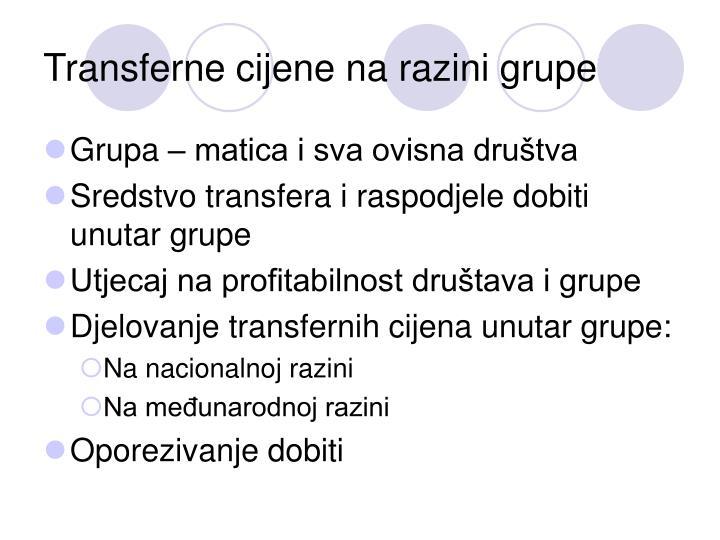 Transferne cijene na razini grupe
