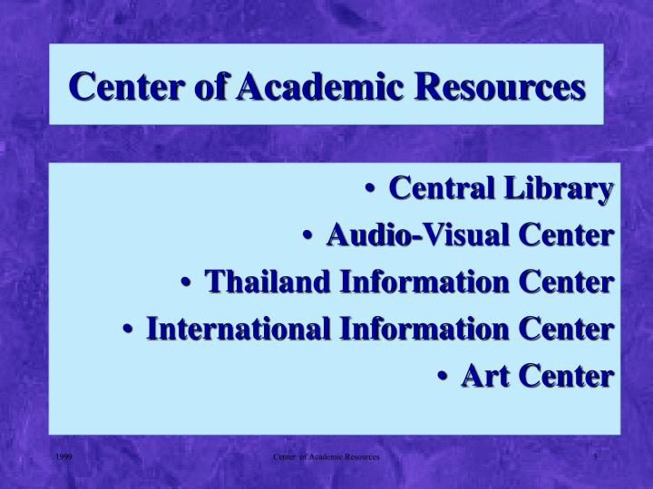 Center of Academic Resources