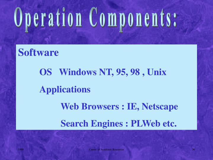 Operation Components: