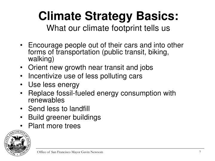 Climate Strategy Basics: