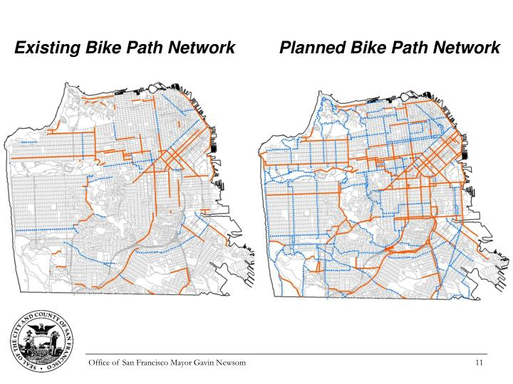 Existing Bike Path Network