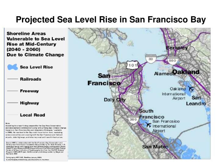 Projected Sea Level Rise in San Francisco Bay