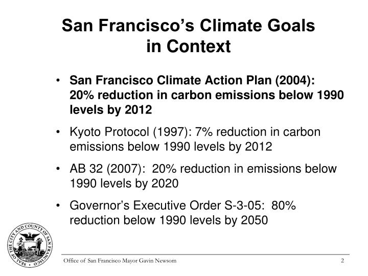 San francisco s climate goals in context
