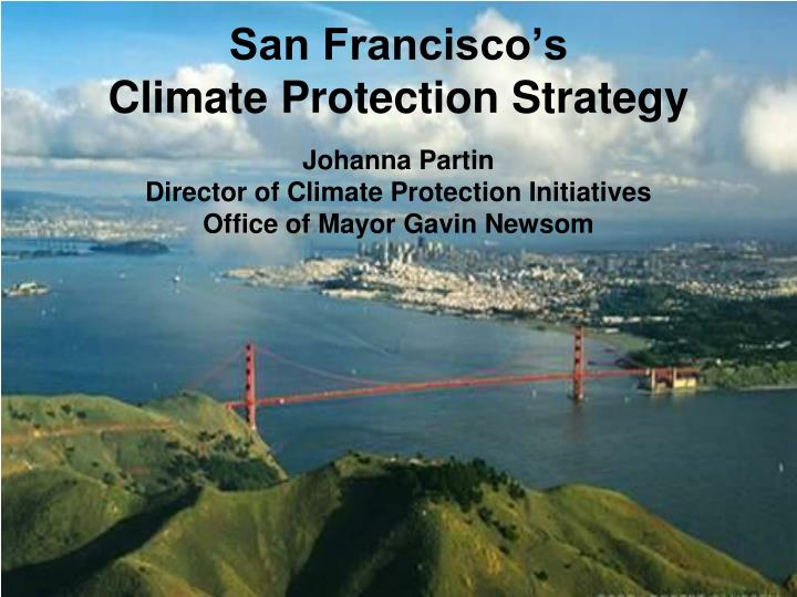 San francisco s climate protection strategy