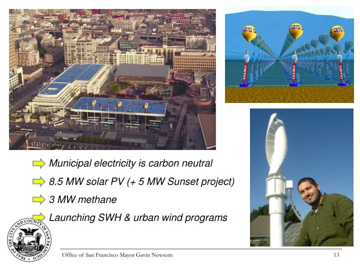 Municipal electricity is carbon neutral