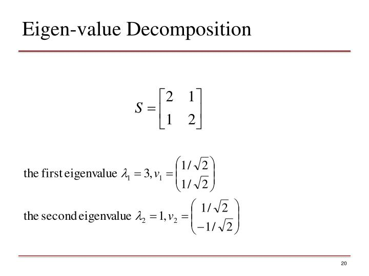 Eigen-value Decomposition