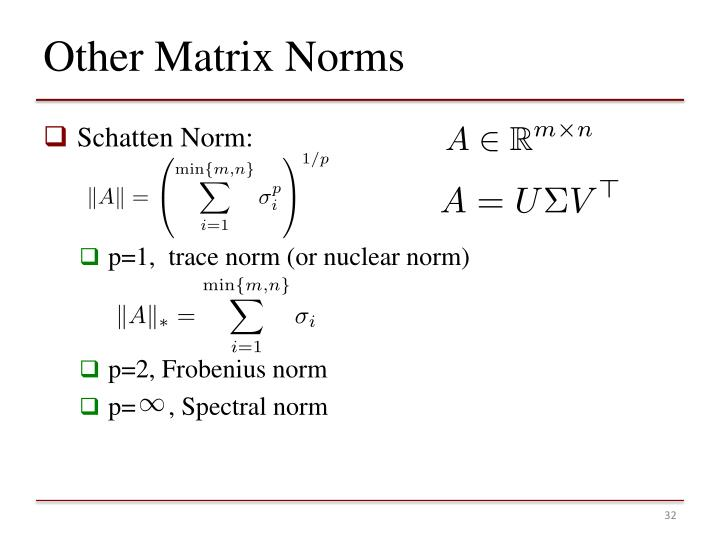 Other Matrix Norms