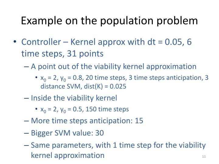 Example on the population problem