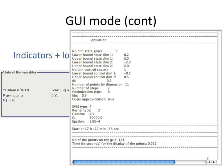 GUI mode (cont)