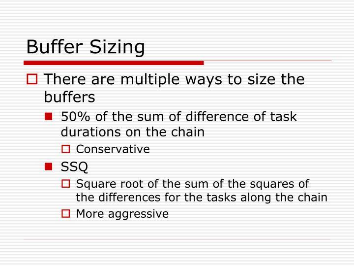 Buffer Sizing