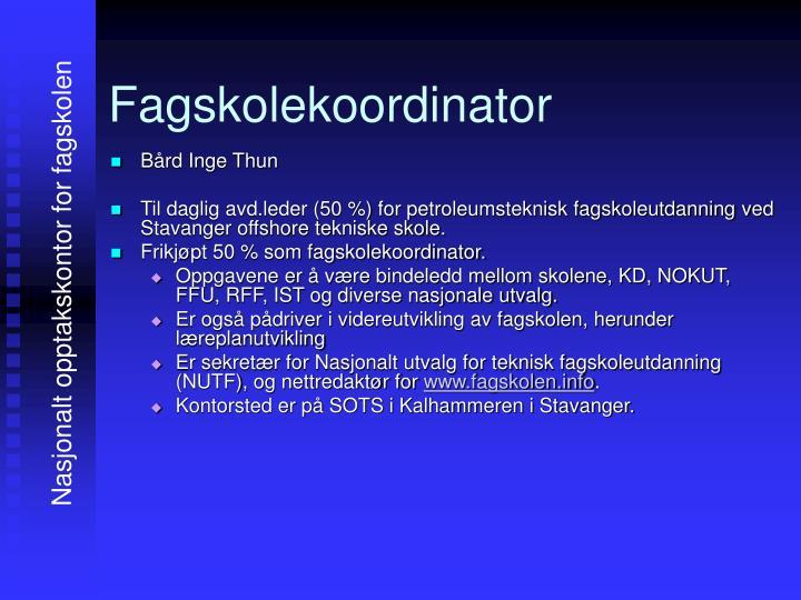 Fagskolekoordinator