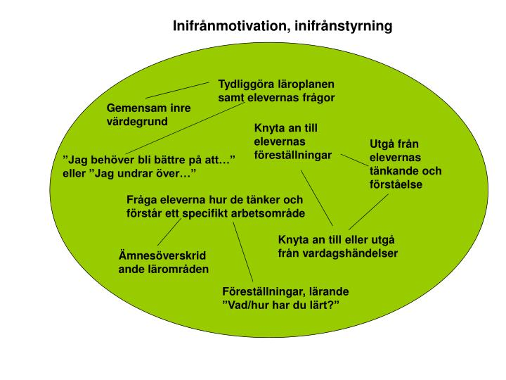 Inifrånmotivation, inifrånstyrning