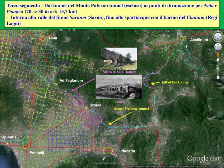 Terzo segmento - Dal tunnel del Monte Paterno tunnel (escluso) ai punti di diramazione per