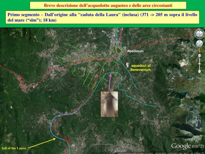 Breve descrizione dell'acquedotto augusteo e delle aree circostanti