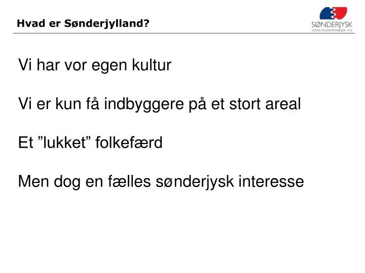 Hvad er Sønderjylland?