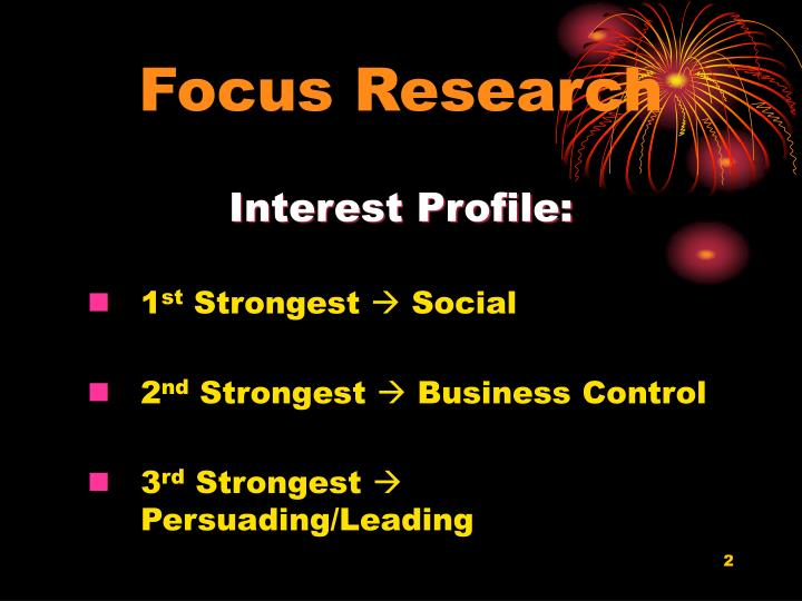 Focus research