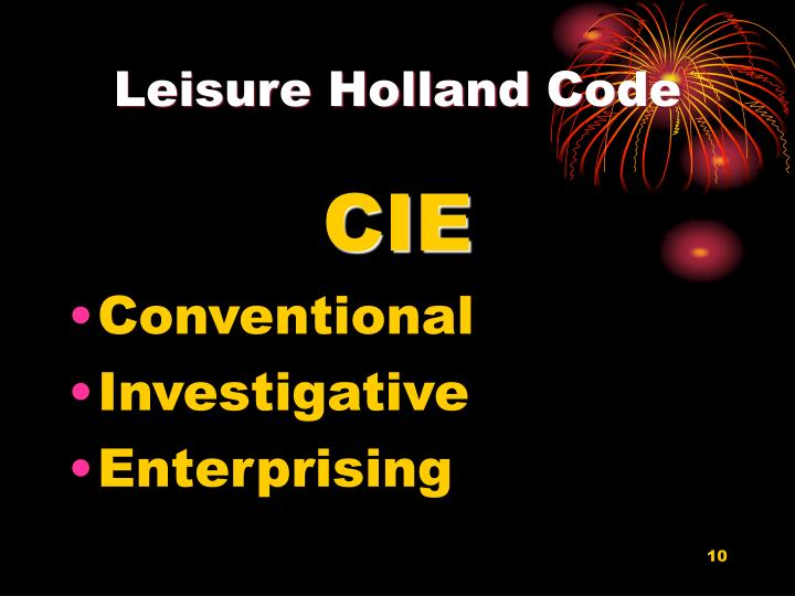 Leisure Holland Code