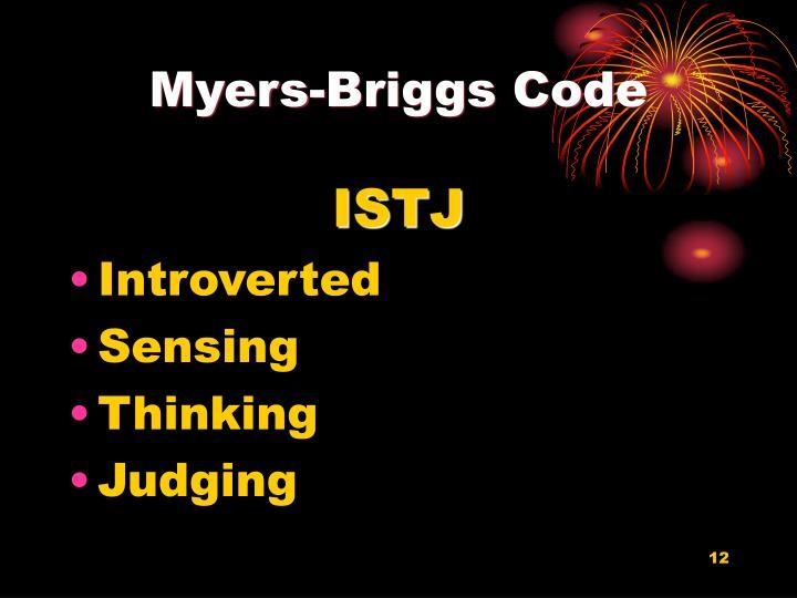 Myers-Briggs Code