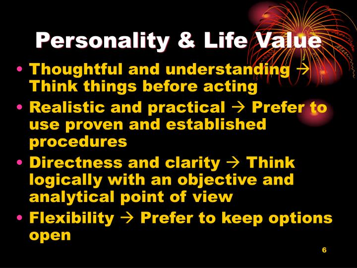 Personality & Life Value