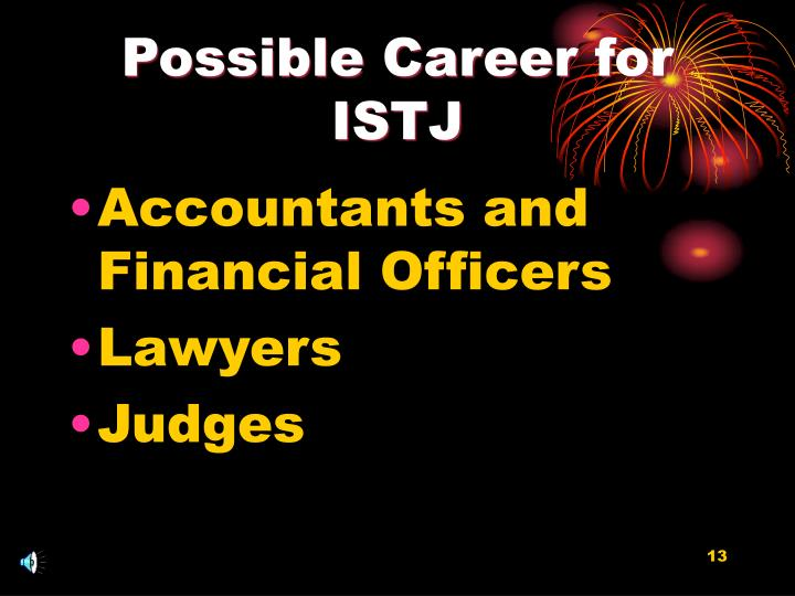 Possible Career for ISTJ