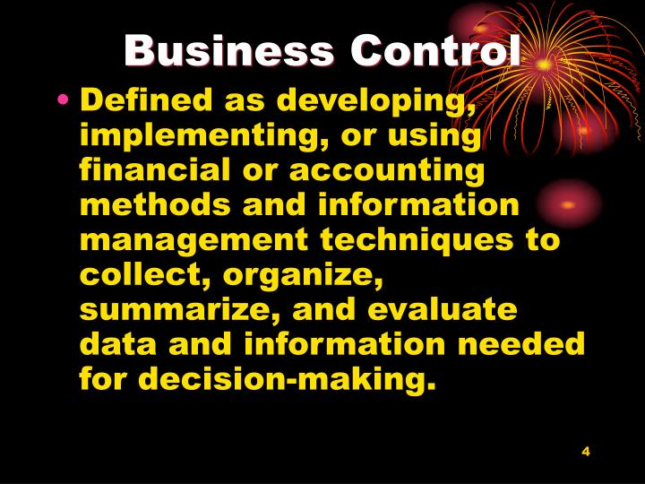 Business Control
