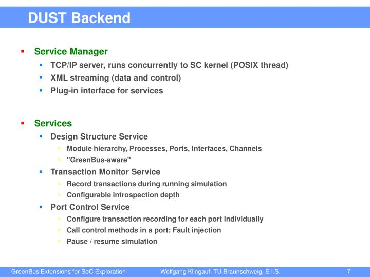 DUST Backend