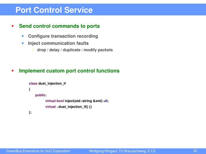 Port Control Service