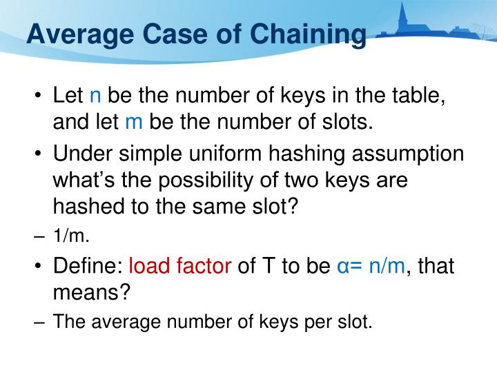 Average Case of Chaining