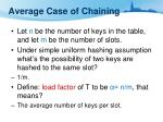 average case of chaining1