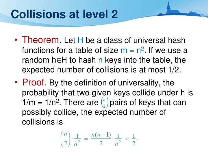 Collisions at level 2