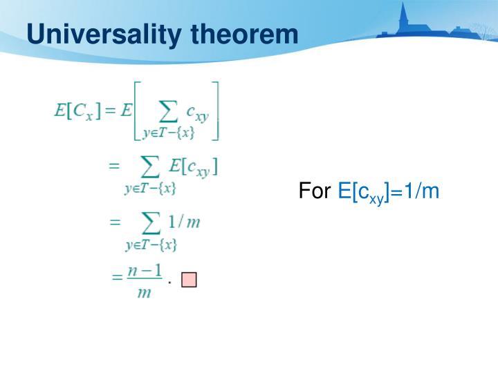 Universality theorem