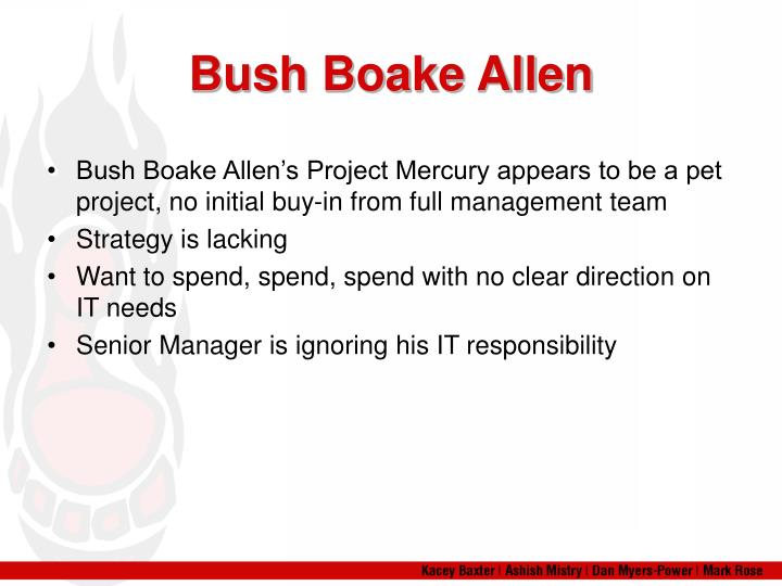 Bush Boake Allen