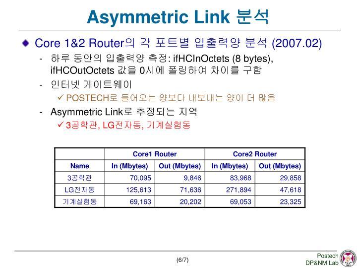 Asymmetric Link