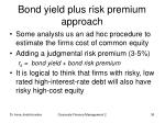 bond yield plus risk premium approach