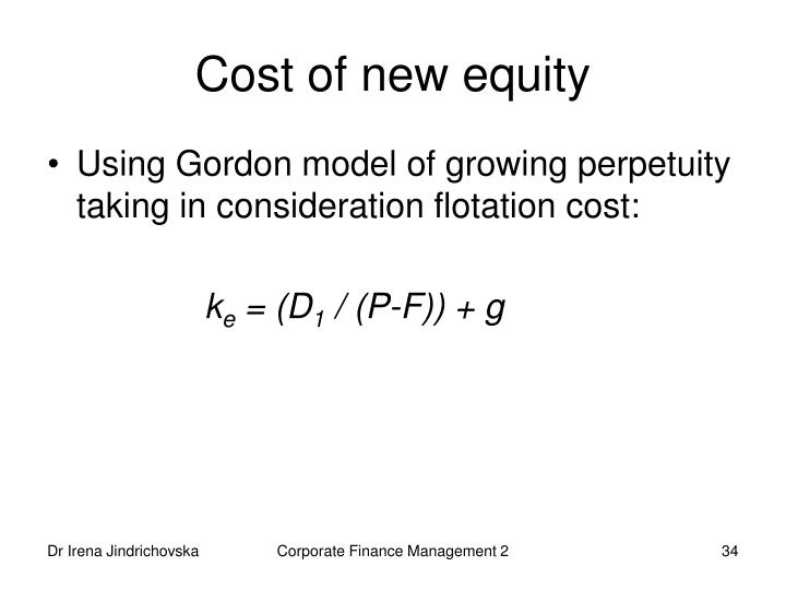 Cost of new equity