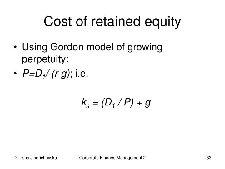 Cost of retained equity