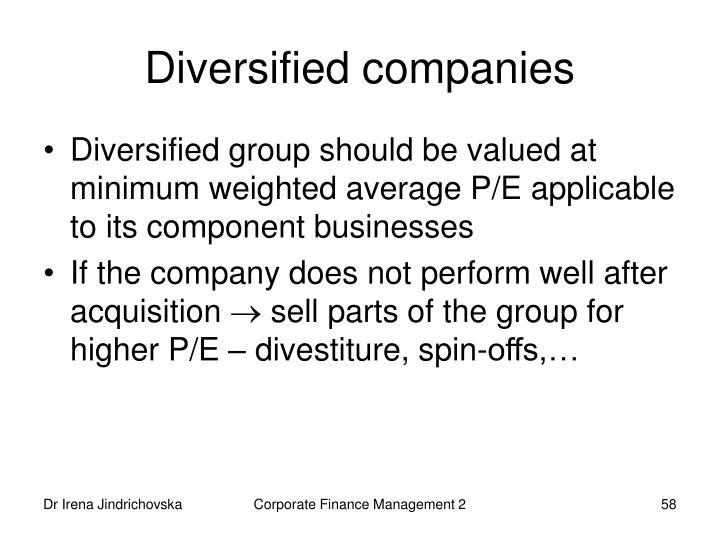 Diversified companies