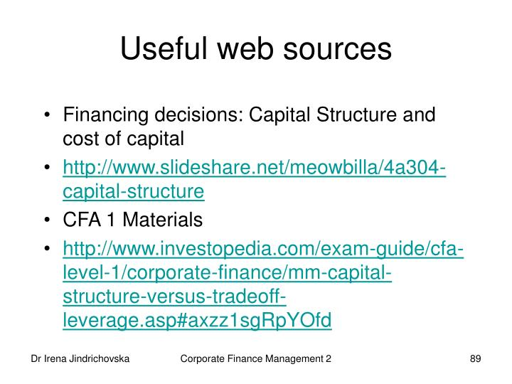 Useful web sources